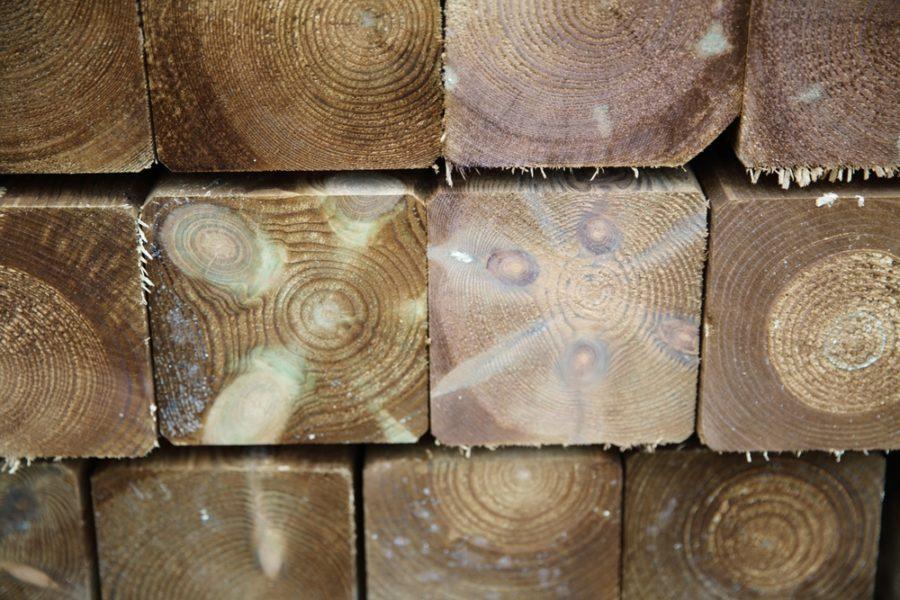 poteau carré bois bpn